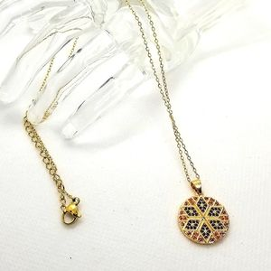 😍2for25. 925 silver goldtoned pendant necklace